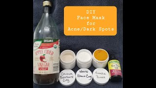 053  D Y Face Mask for Acne and Dark Spots  Dec 2019