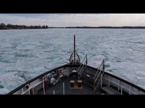 Aboard a U.S. Coast Guard Ice Breaker