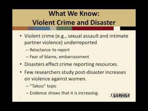 Post-Disaster Violence Against Women