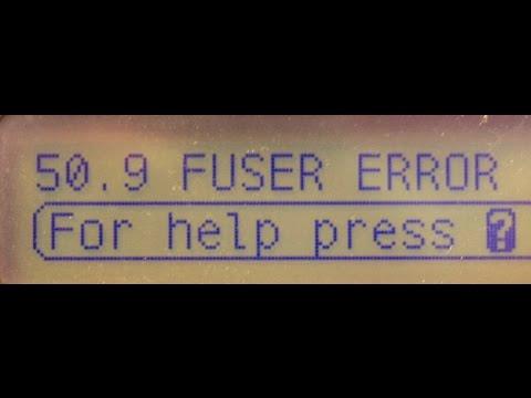50.9 fuser error HP Laserjet 3800 3600 3000 CP3505 2700