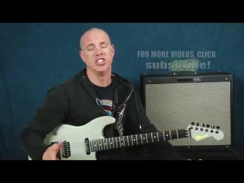 Blues Guitar lesson Joe Bonamassa inspired bluesy chords rhythms devices shuffles with tabs