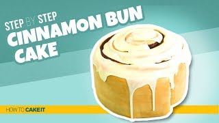 How To Make GIANT Cinnamon Bun CAKE | Step By Step | How To Cake It