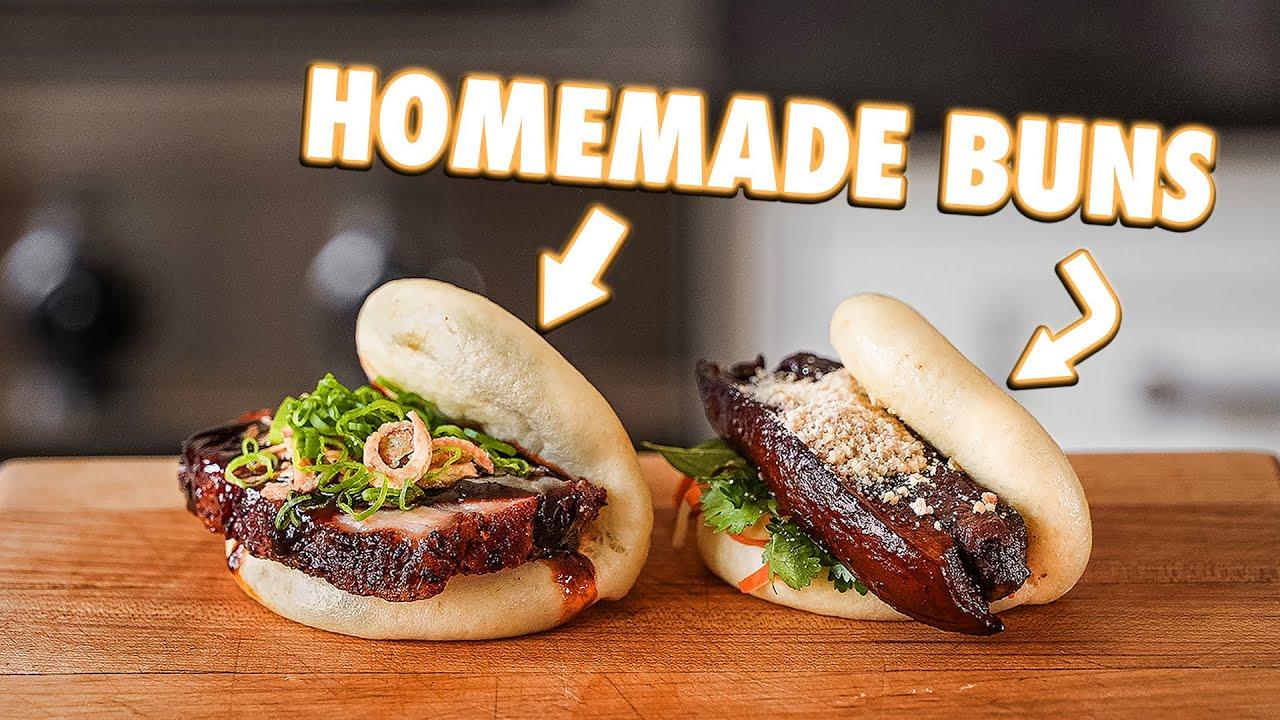 Homemade Pork Belly Bao Buns