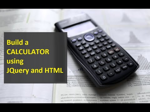 Build a calculator using JQuery and HTML - YouTube