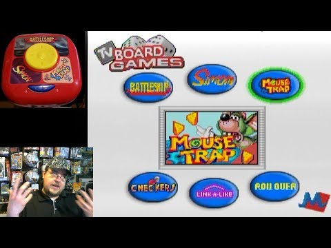 6-in-1 TV Board Games: Battleship, Simon, Mouse Trap, Checkers, Link-A-Like & Roll Over - Game Play
