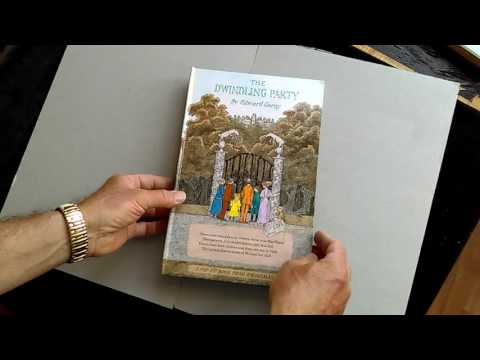SOUGHT-AFTER 1982 EDWARD GOREY FIRST EDITION POP-UP BOOK 'THE DWINDLING PARTY'.