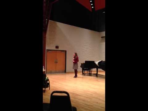 Audrie's  Cyt Tucson audition song for Shrek