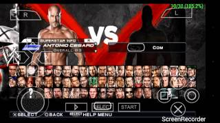 WWE 13 PSP by CROCOX111 Full roster including dlcs