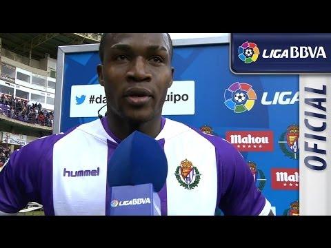 Entrevista   Interview Manucho tras el Real Valladolid (1-0) UD Almería - HD