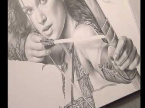 Bleistiftportrait. Realistisch Zeichnen. Keira Knightley speed painting