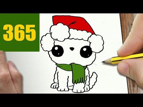 Disegni Di Natale Kawaii.Come Disegnare Cane Di Natale Kawaii Passo Dopo Passo Disegni