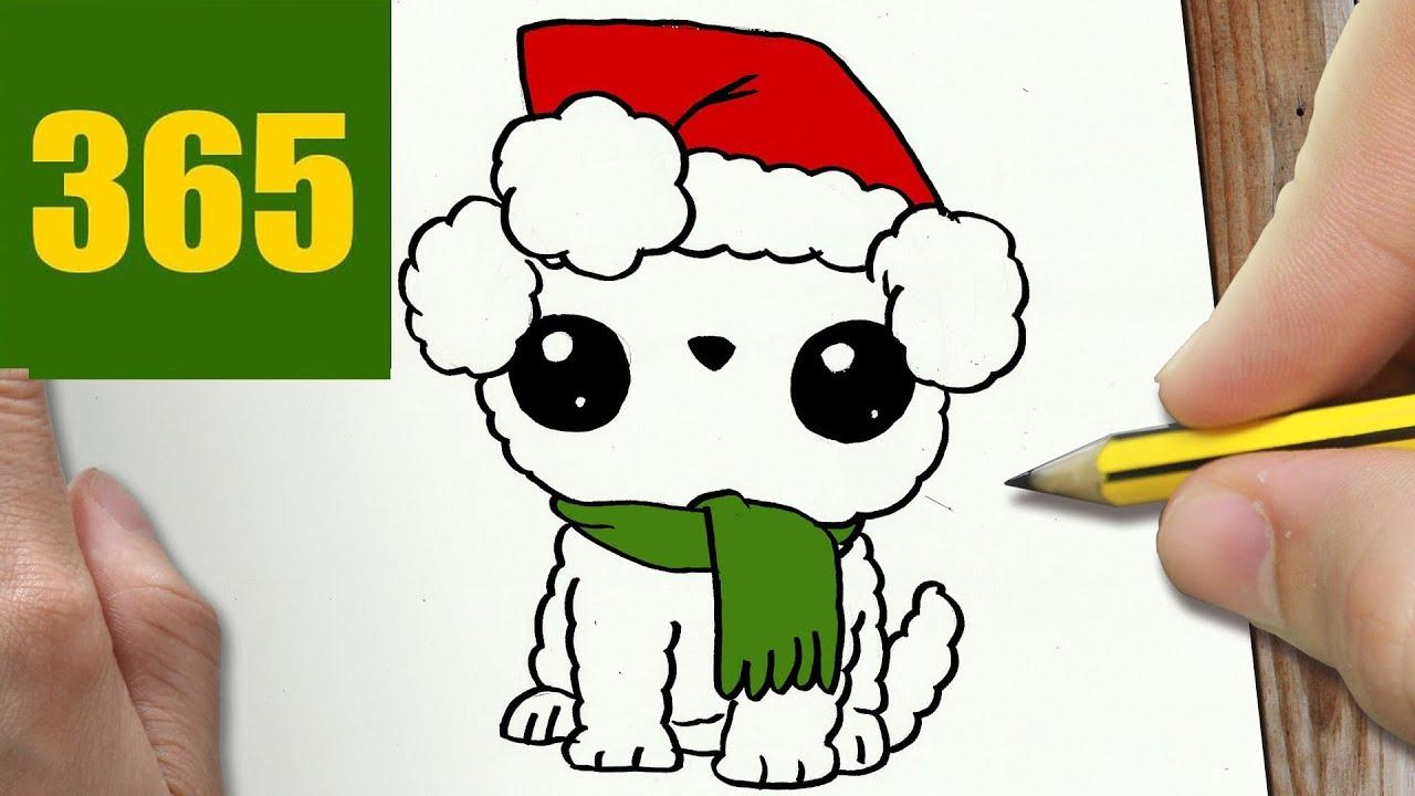 Come disegnare cane di natale kawaii passo dopo passo for Disegni facili kawaii