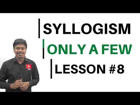 SYLLOGISM || Only a Few || Lesson-8
