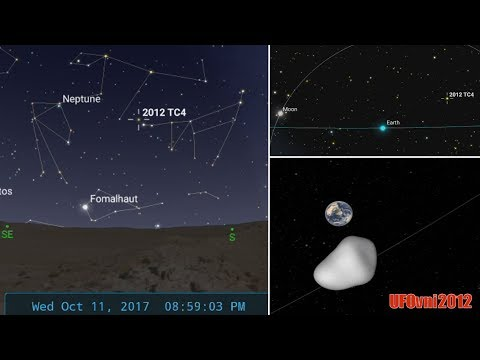 Will 2012 TC4 asteroid collide with Earth on October 12, 2017