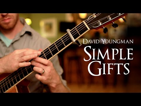 Simple Gifts Song - Two Hand Tapping Guitar Arrangement