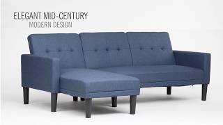 DHP Haven Small Space Sectional Sofa Futon
