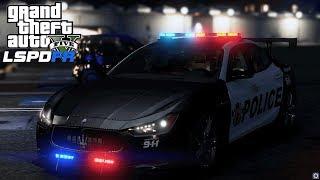 BECCO UNO ZOZZONE IN CENTRALE CON MASERATI DELLA POLIZIA  - GTA 5 LSPDFR MODS GAMEPLAY ITA