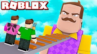 HELLO NEIGHBOR US PURSUES IN ROBLOX!!! | Rovi23 Roblox