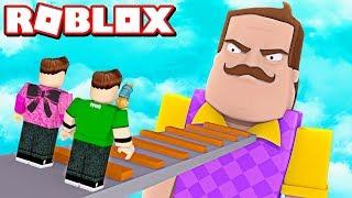 HELLO NEIGHBOR US PURSUES IN ROBLOX!!! | Rovi23 Roblox