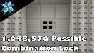 Simple Minecraft Combination Lock With Over 1 Million Combinations!
