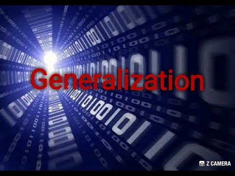 Generalization in dbms ( extended ER feature )