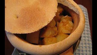 Курица в горшочке с картошкой и сладким перцем