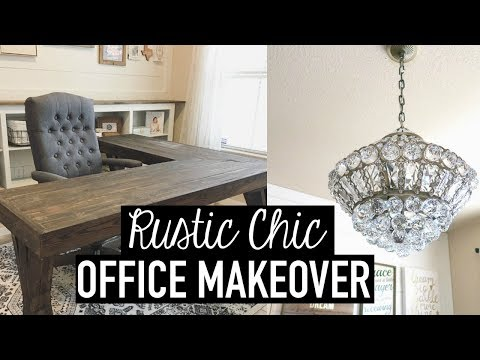 Rustic Chic Office Makeover Diys Decor Tips Ideas