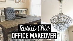 RUSTIC CHIC OFFICE MAKEOVER + DIYS, DECOR TIPS & IDEAS