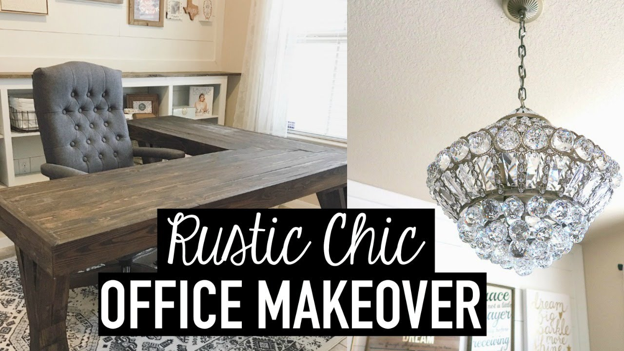 RUSTIC CHIC OFFICE MAKEOVER + DIYS, DECOR TIPS U0026 IDEAS