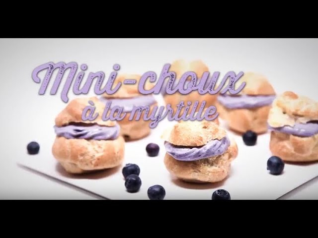 Mini choux à la myrtille