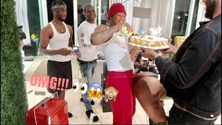 I GOT AR'MON A $.T.R.!.P.P.3.R FOR HIS 21ST BIRTHDAY!!!