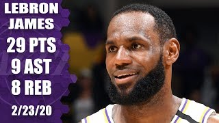LeBron James comes up clutch in Celtics vs. Lakers thriller | 2019-20 NBA Highlights