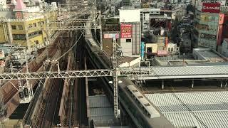 ◆京阪 8両編成 普通 大阪 京橋駅 「京阪のる人、おけいはん。」◆
