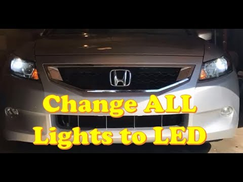 Honda Accord Changing ALL lights to LED (Coupe / Sedan)