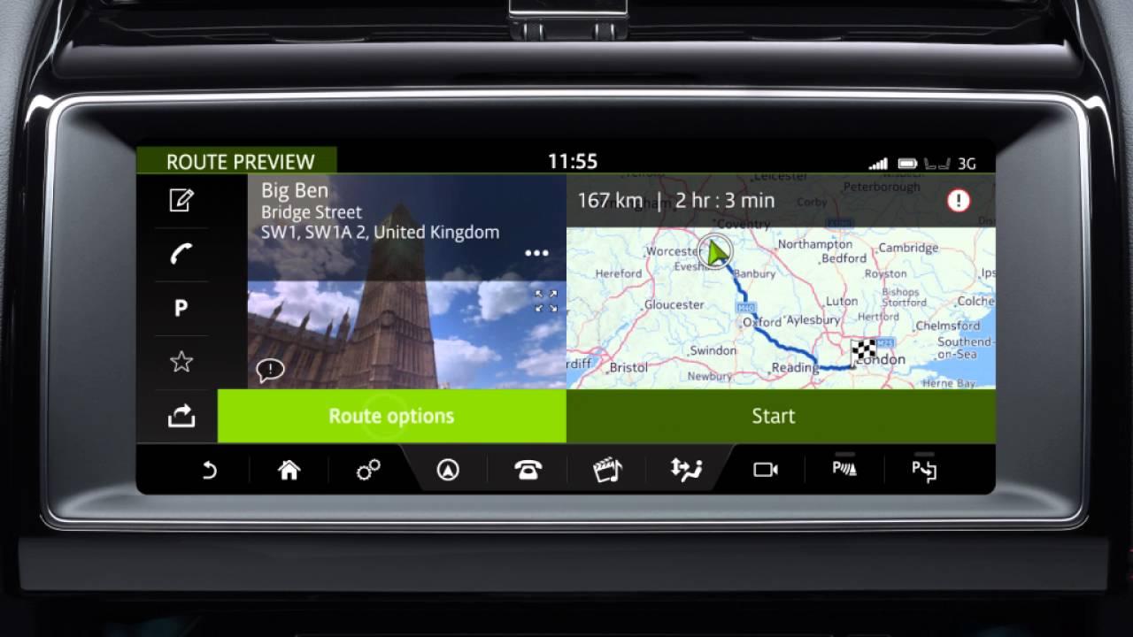 Jaguar F Pace 2017 Incontrol Touch Pro Navigation