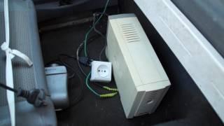 Как сделать простой преобразователь тока из 12 В на 220 В из старого бесперебойника  своими руками