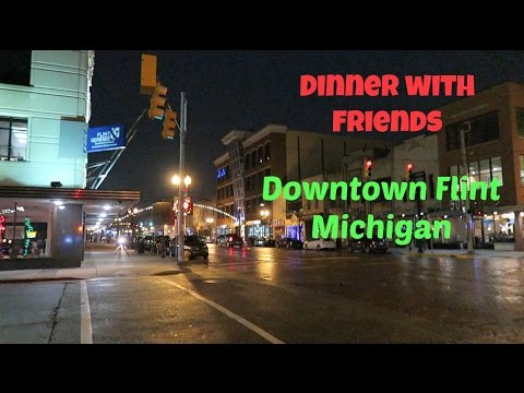 Dinner with Friends, Downtown Flint, MI | December 6, 2016 | Daily Vlog