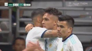 هدف الارجنتين الاول في المكسيك 4-0 | اهداف مباراة الارجنتين والمكسيك