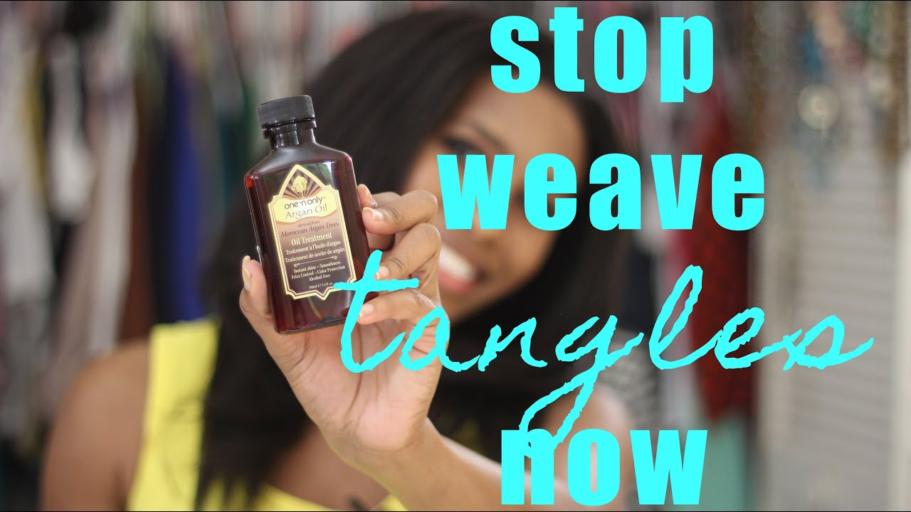 How To Stop Weave Tangles Instantly Youtube