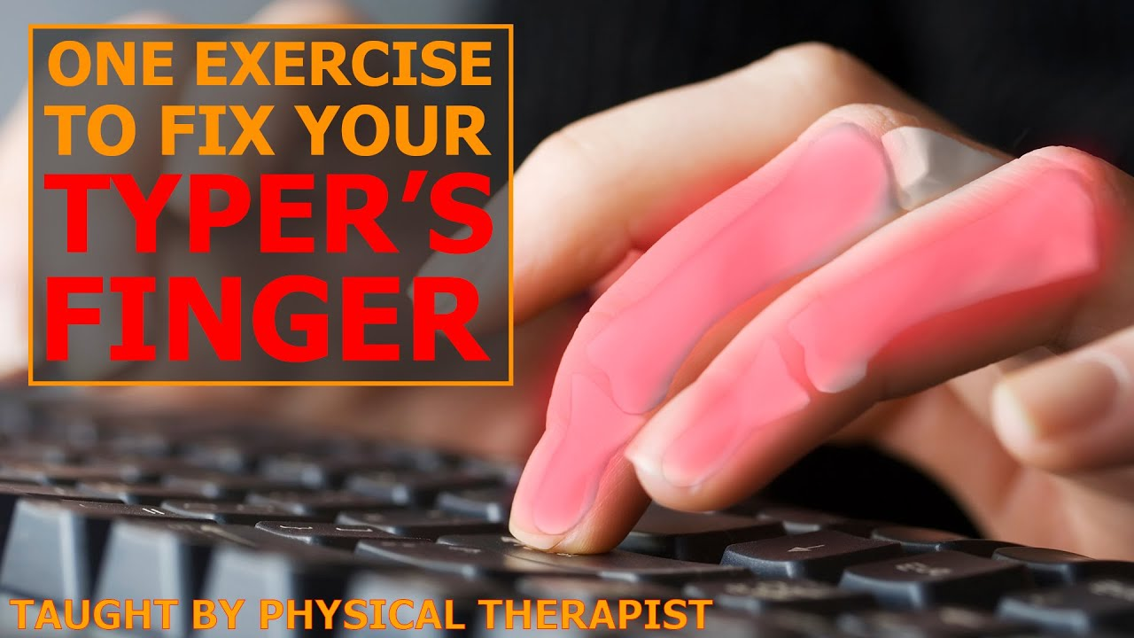 Fingers Feeling Cramped or Painful? | One Exercise to Fix It | Typer's Finger