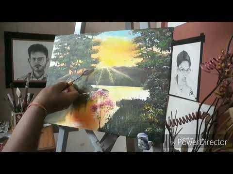Winter's acrylic painting, art &crafts tutorial