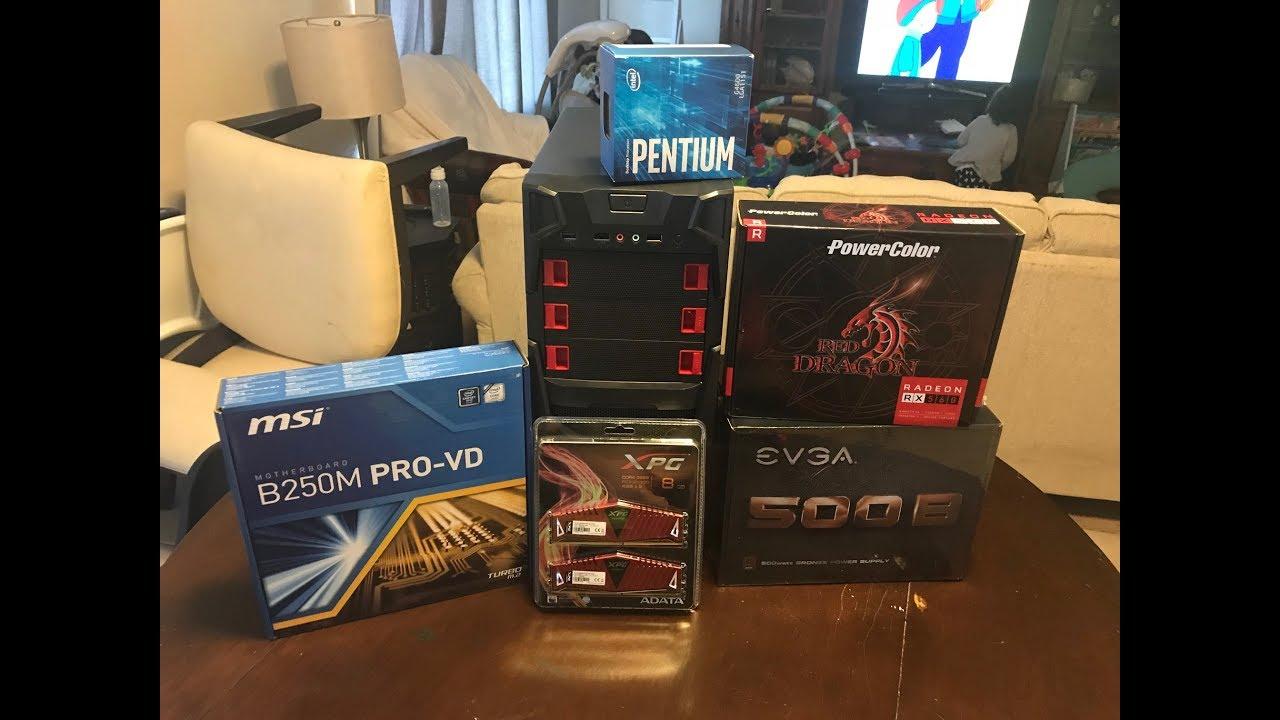 **Budget Build PC** Runs iRacing @ High Settings 475 00