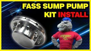 FASS Sump Pump Kit Install - Eliminate 1/4 Fuel Tank Issue #STK-5500