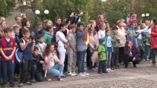 Празднования в День города на площади Собина