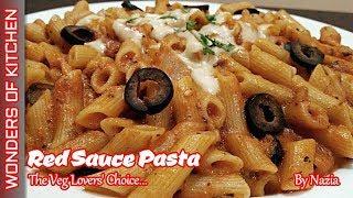 Red Sauce Pasta Recipe   Restaurant style pasta   Pasta in Red Sauce   Red Sauce Pasta with Cheese