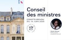 Compte-rendu du Conseil des ministres du 10 juin 2020