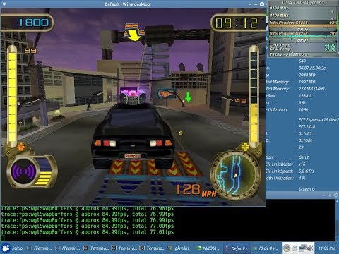 Hot Wheels Velocity X Test 48fps NVENC x64 + Sound (Pentium G3258) con el Wine 2.18 + Nvidia 387.12