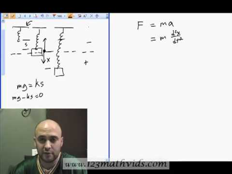 Modeling spring motion using Differential Equations Part one