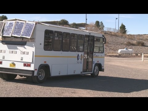 New Mexico woman invents state's first solar powered bus