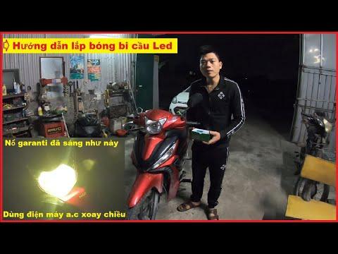 Lắp bóng đèn Led không cần chuyển bình ác quy | Hướng dẫn lắp bóng bi cầu Led Chính hãng